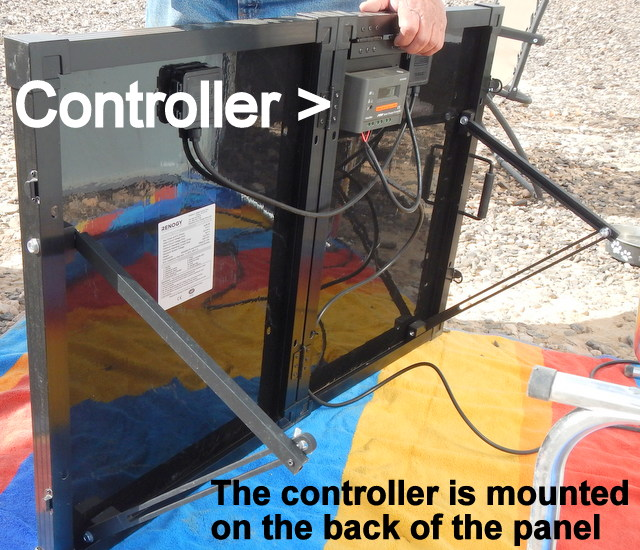 The controller is mounted on the back panels so there is no permanent installation in the van.