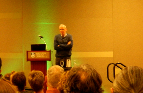 Bill McKibben speaking at Northern Arizona University.